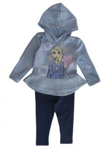Disney Little Girls Blue Frozen Elsa Hoodie Leggings Set 2T-6X