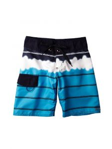 Azul Big Boys Blue Tie Dye Print Drawstring Tie Board Shorts 14