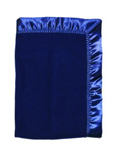 Raindrops Baby Navy Unisex Fleece Crib Blanket
