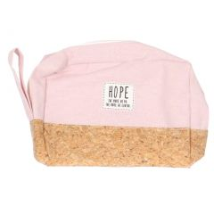 Girls Pink Beige Side Handle Zipper Hand Bag 13 3/4 inches x 15 3/4 inches