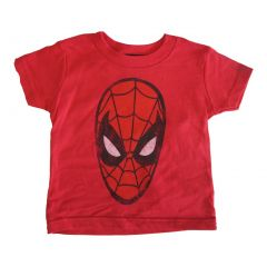 Marvels Little Girls Red Spiderman Logo Print Crew Neck Cotton T-Shirt 2-4T