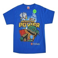 "Lego Big Boys Royal Blue Chima ""Unleash The Power"" T-Shirt 14/16"