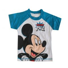 "Disney Little Boys White Sky Blue ""Original Pal"" Mickey Print T-Shirt 2-4T"