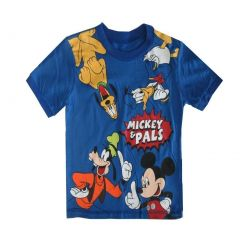 "Disney Little Boys Royal Blue ""Mickey & Pals"" Short Sleeved T-Shirt 2-4T"