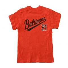 Mlb Little Boys Orange Baltimore 21 Short Sleeve Shirt 4-12