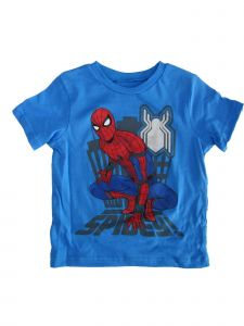 "Marvel Little Boys Blue Red ""Spidey"" Print Short Sleeve Trendy T-Shirt 2-4T"