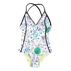 Azul Girls Lilac Floral Sassy Does It Triangle One Piece Swimsuit 4-8