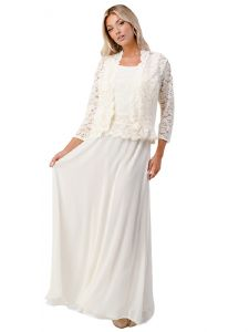 Fanny Fashion Womens Multi Color Sleeveless Sequin Lace Cardigan Dress Set M-4XL