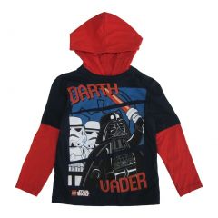Lego Little Boys Navy Red Star Wars Darth Vader Minifigures Print T-Shirt 4-7