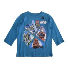 Lego Baby Boys Blue Star Wars Minifigures Print Long Sleeve T-Shirt 12-18M