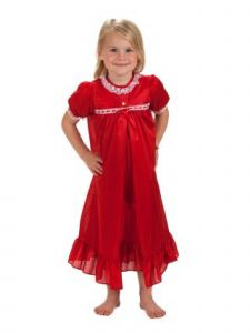 Laura Dare Big Girls Red Short Sleeve Tradition Peignoir Set 8-14