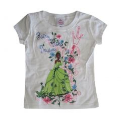 Disney Girls White Princess And The Frog Short Sleeved T-Shirt 4-12