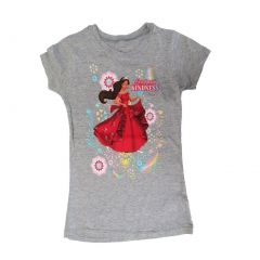 "Disney Little Girls Grey Elena Of Avalor ""Lead With Kindness"" T-Shirt 5-6X"
