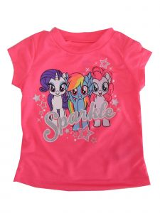 "Hasbro Little Girls Neon Pink My Little Pony ""Sparkle"" Print T-Shirt 2-4T"