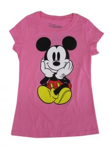 Disney Big Girls Pink Minnie Mouse Print Short Sleeved T-Shirt 7-16