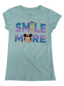"Disney Big Girls Aqua Tum Tums 'Smile More"" Print Short Sleeve T-Shirt 7-16"