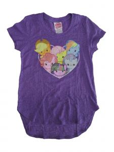 Hasbro Little Girls Purple My Little Pony Heart Medallion Print T-Shirt 4-6X
