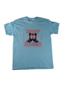"Girls Blue ""Boot Queen"" Graphic Print Cotton Short Sleeve T-Shirt 6-16"