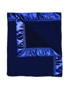 Raindrops Baby Navy Unisex Fleece Receiving Blanket