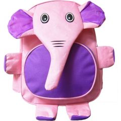 Kreative Kids Girls Purple Elephant 3D Animal Side Mesh Pockets Backpack