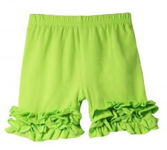Girls Lime Green Elastic Waist Ruffle Bottom Icing Boutique Shorts 12M-7