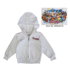 Disney Big Girls White Disneyland Back Print Design Zipper Hooded Top 16