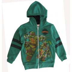 Nickelodeon Little Boys Green Black Ninja Turtles Hooded Top 4-7