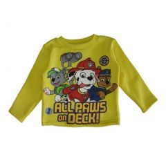 "Nickelodeon Little Boys Yellow Paw Patrol ""Always On Deck"" Print Top 2-4T"