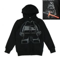 Lego Little Boys Black Long Sleeve Star Wars Zip Up Hoodie 4-7