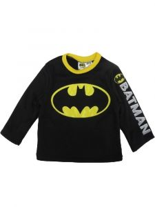 Dc Comics Big Boys Black Yellow Batman Long Sleeve Sweater 2T-7