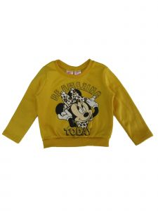 Disney Little Girls Yellow Minnie Mouse Be Amazing Today Crew Neck Sweater 3T