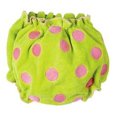 Elegant Baby Infant Girls Green Pink Dot Bloomer 6-24M