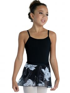 DanzNmotion Girls Multi Color Floral Print Sheer Nylon Circle Skirt T-XL