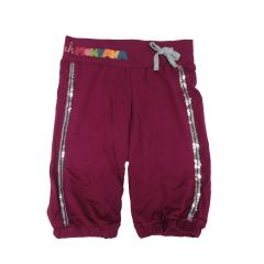 Disney Little Girls Burgundy Sparkle Sequin Adorned Hannah Montana Shorts 4-6X