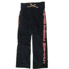 Disney Big Girls Black High School Musical Sweatpants 7-16