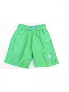 Azul Little Boys Green Solid Color Logo Detail Drawstring Basic Shorts 2-6