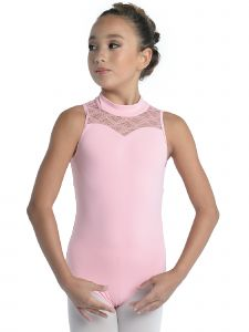 DanzNmotion Girls Multi Color Sweetheart Neck Cutaway Lace Tank Leotard 4-14