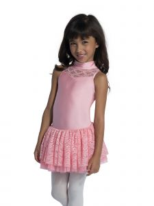DanzNmotion Girls Multi Color Sweetheart Neck Cutaway Lace Tank Dress 2-10