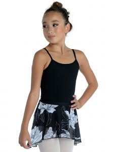 DanzNmotion Girls Multi Color Short High-Low Floral Print Skirt T-XL
