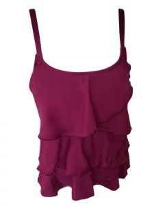 Women's Plum Multi-Tiered Brief Tankini Swimsuit 16