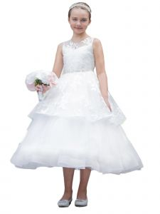 Girls Multi Color Tulle Layers Crystal Communion Junior Bridesmaid Dress 4-12
