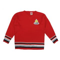 WB Girls Red Tweety Applique Striped Pattern Long Sleeve Sweater 2-16