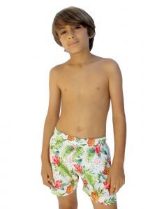 Azul Little Boys Multi Color Drawstring Tie Don't Leaf Swimwear Shorts 4-6