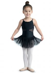 DanzNmotion Big Girls Black Lace Back Camisole Dress 6-10