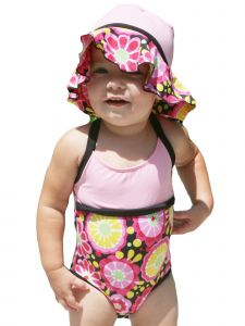 Azul Baby Girls Pink Fresh Blossom 1 Pc Swimsuit 18-24M