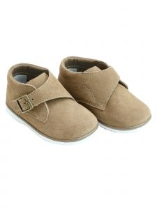 Angel Boys Nude Khaki Finch Buckle Strap Boot 1 Baby -7 Toddler