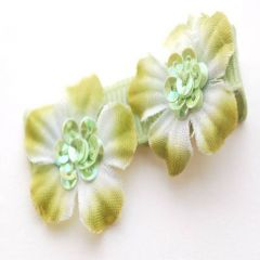 Reflectionz Girls Hair Accessory Bow Lime Flower Clippie