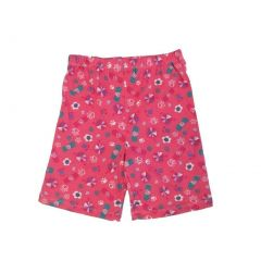 Disney Little Girls Pink Paw Stylized Floral Printed Cotton Shorts 4-6X