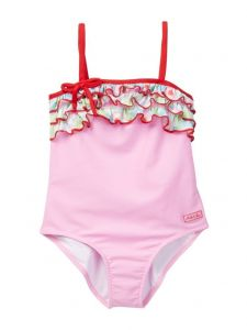 Azul Little Girls Pink Sweet Jane Ruffle Strap One Piece Swimsuit 2-6