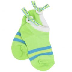 Jefferies Socks Girls Lime Button Back Ribbon Low Cut Socks 6-9.5